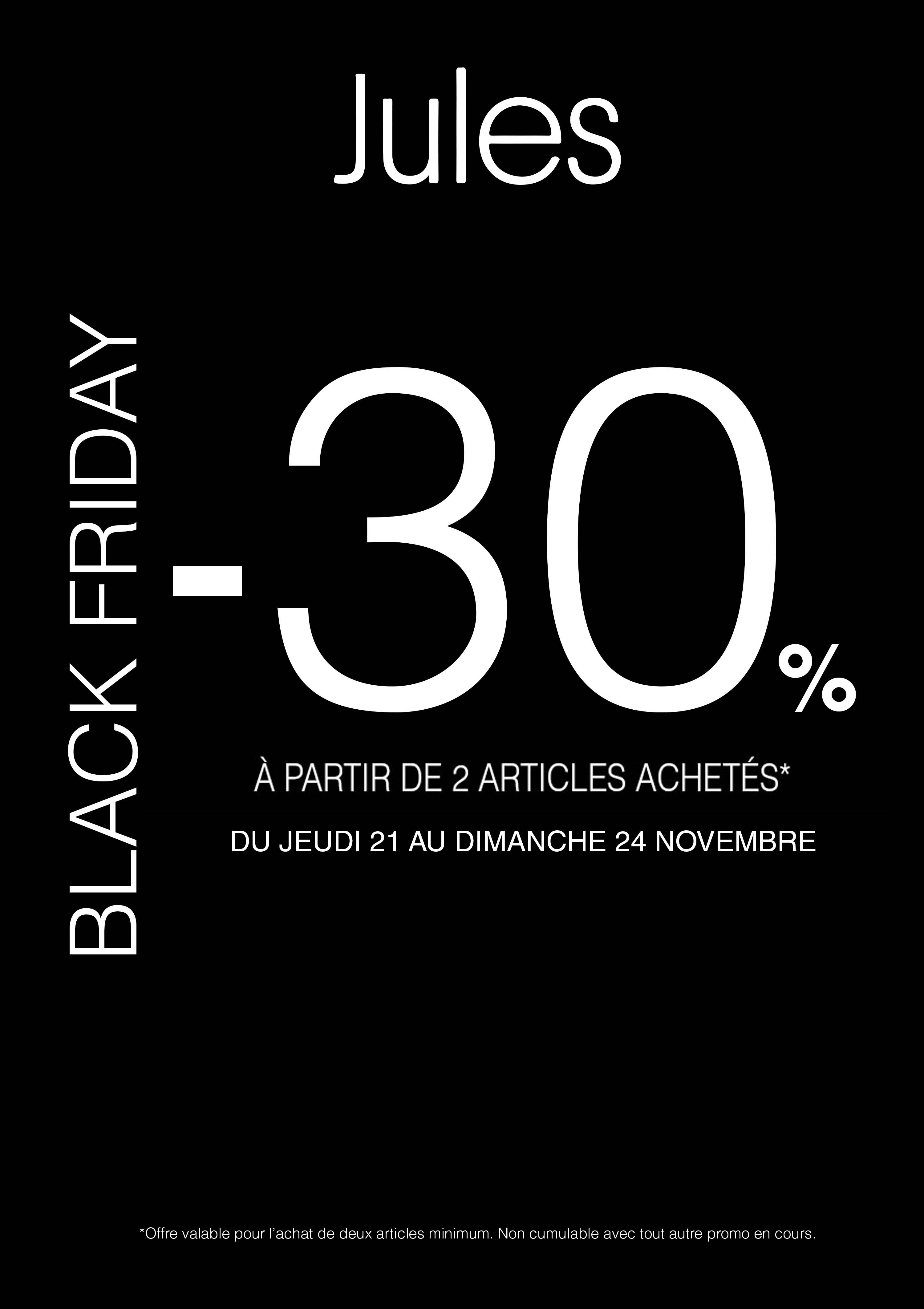 Black Friday chez Jules
