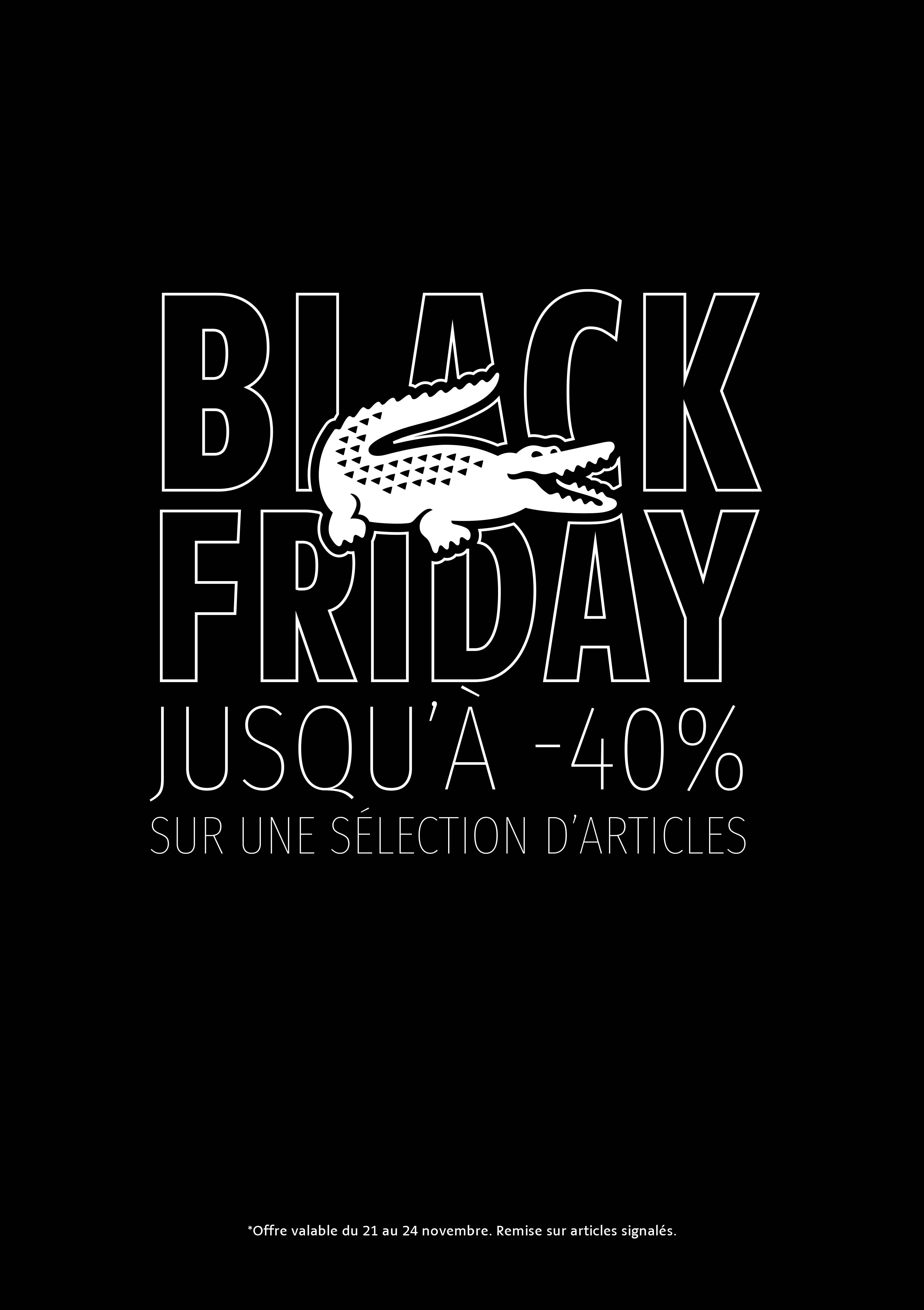 Black Friday chez lacoste