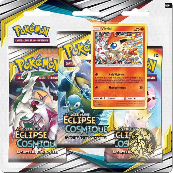 Pack 3 booster Pokémon