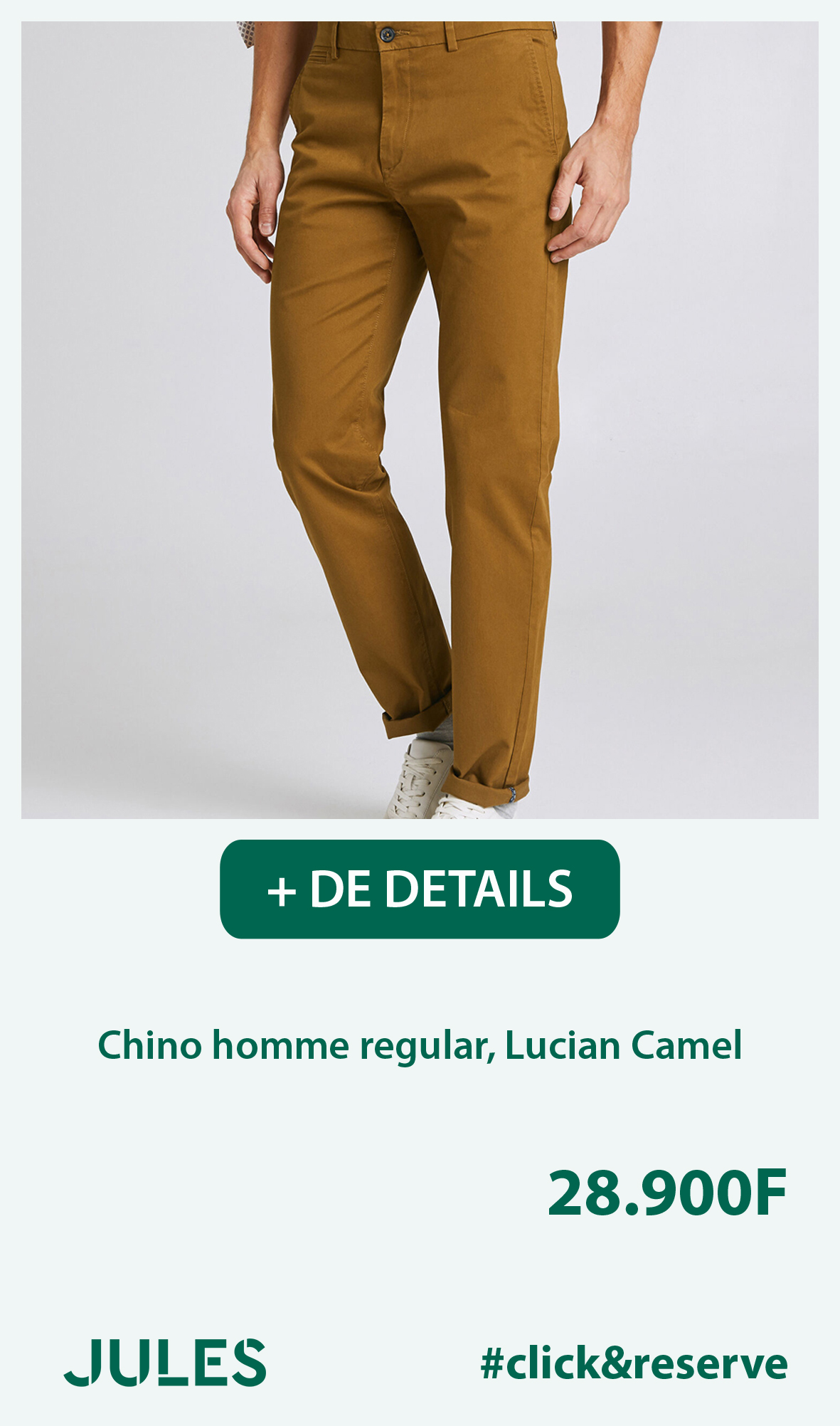 Chino homme regular, Lucian Camel