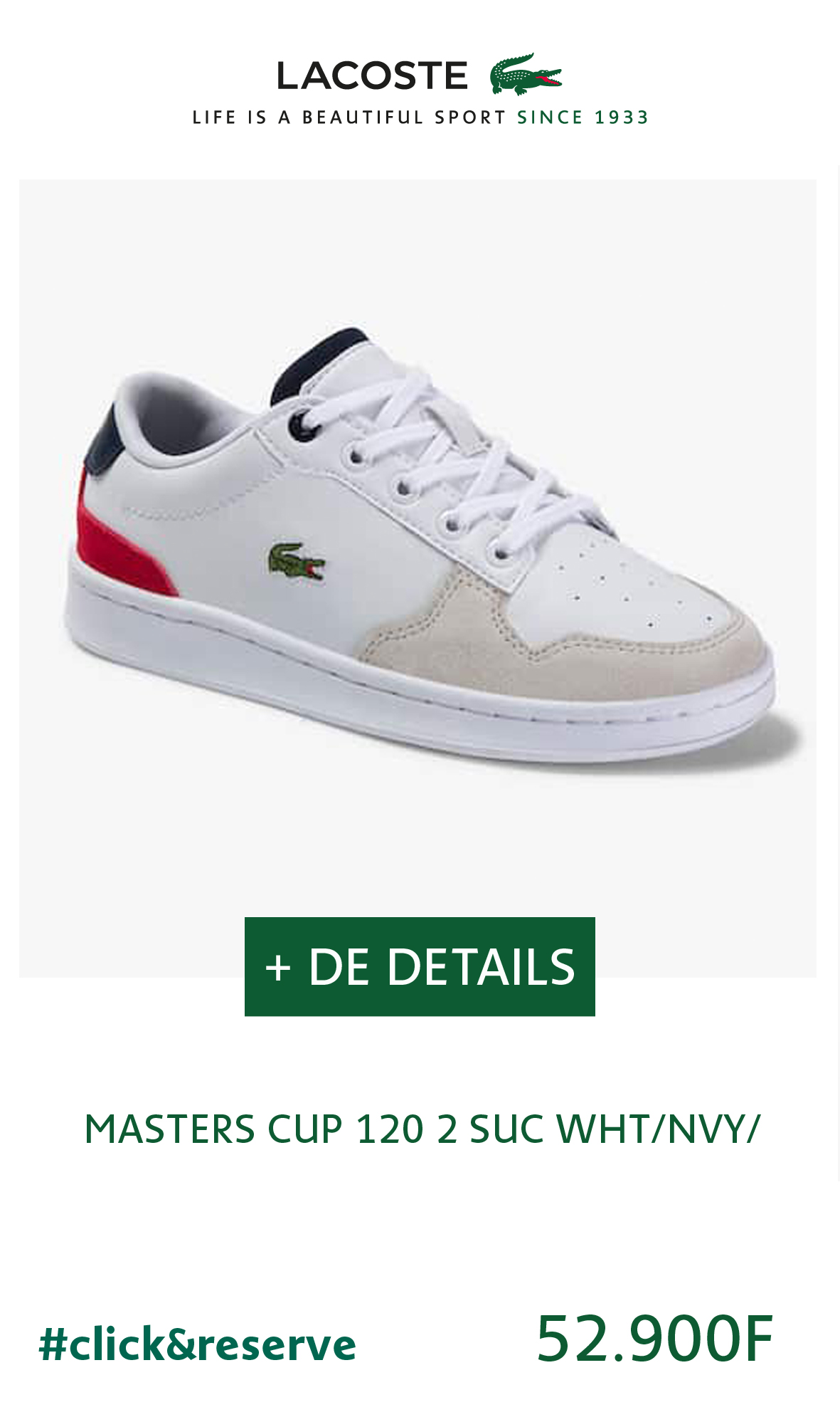 Chaussure enfant MASTERS CUP 120 2 SUC – Blanc/ marine/ rouge